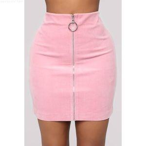 Fashion Nova Dionne Zip Front Skirt